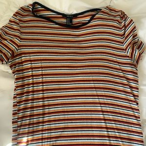 multi-colored striped Forever21 top